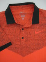 Mens Medium Nike Dri Fit tennis retro orange black polo shirt