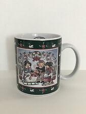 Lang & Wise Teddys Swan Sleigh Collector Teddy Bear Cup Mug Nita Showers NEW