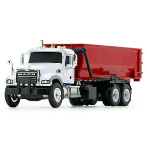 HO 1:87 First Gear MACK GRANITE w/TUB-STYLE ROLL-OFF Container White & Red NIB