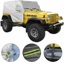5-Layer Waterproof SUV Cover Protection Car Cover for 1997-2006 Jeep Wrangler TJ