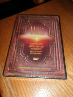 NEW Holy Bible King James Old and New Testament DVD Factory Sealed Great Gift