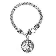 Tree of Life Yggdrasil Pentacle Pentagram Pendant Wicca Pagan Charm Bracelet
