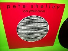 """Pete Shelley – On Your Own 12"""" Vinyl EP Record 1986 SynthPop Translucent Wax"""