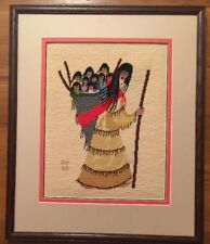 Finished Needlepoint HO OK WITCH Ted DeGrazia Wool FRAMED AWARD WINNER