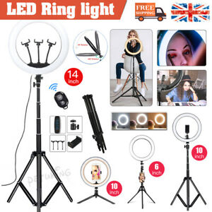 "10"" 12"" 14'' LED Ring Light & Stand for Youtube Tiktok Makeup Video Phone Selfie"