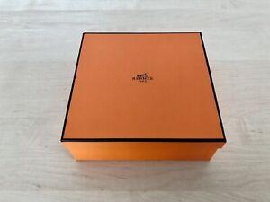 "Hermès Empty Medium Gift Box Size 8.25""x8.25""x2.5"""