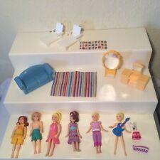 Polly Pocket Figures Girls Boy Furniture lot Magnetic