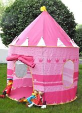 Portable Pink Pop Up Play Tent Kids Girl Princess Castle Outdoor Play House Fun
