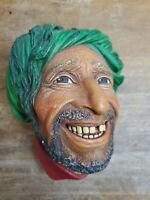 Vintage Bossons England Chalkware Head Wall Ornament Head Kurd