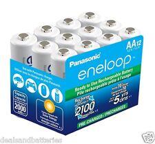 12 Panasonic Eneloop AA 2100 Cycles NiMH BK-3MCCA12SA Rechageable Batteries