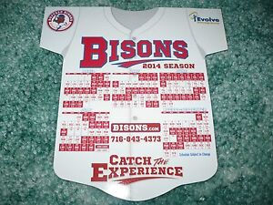 NEW! BUFFALO BISONS 2014 Magnetic and Pocket Schedule, Magnet, Toronto Blue Jays