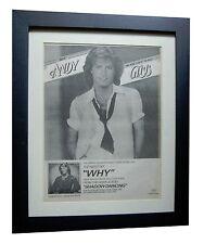 ANDY GIBB+Everlasting+Shadow+POSTER AD+RARE+ORIGINAL 1978+FRAMED+FAST+WORLD SHIP