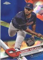 DANNY SALAZAR 2017 TOPPS CHROME SAPPHIRE EDITION #56 ONLY 250 MADE