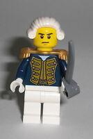 LEGO Pirates - Admiral - Figur Minifig Piraten Blaurock Bluecoat Schiff 70413