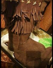 UGG & JIMMY CHOO Chestnut Sheepskin Tall Winter Boots Women Size 7 Excellent