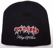 tankard   Beanie hat embroidery  White and red Logo official music band