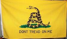 2 FEET BY 3 FEET COTTON GADSDEN FLAG - SEWN DETAILS TEA PARTY - DONT TREAD ON ME