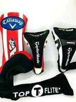 4 Golf Club Headcover Callaway XR, Taylormade Burner Superfast & R9, Top T Flite