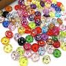 100PCS Plastic Buttons Mix Shank Round Garment Dolls Sewing Accessories PT205