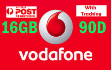 [Long Expire 90 Day] Vodafone 16GB Data Sim Starter Mobile Broadband Dual Cut