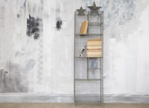 Tall Standing Locker Room Shelf Industrial Wire Rustic Large Storage Unit Nkuku