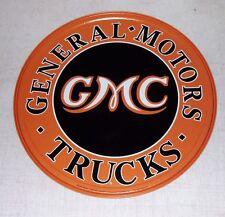 "GMC Truck 12"" Round Tin Sign General Motors"