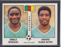 Panini - Italia 90 World Cup - # 177 M'Bouh / Kana-Biyik - Cameroun