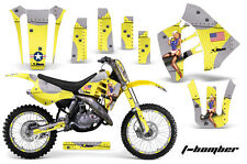 Suzuki RM 125/250 Graphic Kit AMR Racing # Plates Decal Sticker MX 89-92 TBOMBER