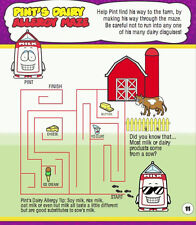 AllerMates ACTIVITY & COLORING BOOK Color Kids ALLERGY Info New Quiz Maze FOOD