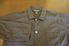 Men's Polo Ralph Lauren Black White Check Long Sleeve Button Up Sz L Large