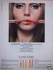 PUBLICITÉ 1965 LANCÔME ROUGE À LÈVRES MODERATO OU PROFOND - ADVERTISING