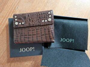 JOOP!  Geldbörse Portemonnaie Kroko braun