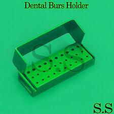 30 Holes Dental Aluminum Bur Burs Holder Box Autoclave Green Color DN-2089