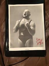 Autographed Ivan Koloff 1992 8 x 10 Photo Signed  Wrestling