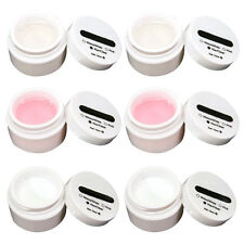 6 x UV Gel Building Gels Set Nail French Nail 15 ml clear/ pink/ white BT F8H0