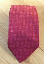 Escada Mens Tie Magenta Classic Fit 100% Silk