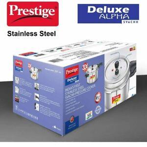 3.5 Litre Prestige Alpha Deluxe Pressure Cooker 3.5lt Stainless Steel Brand New