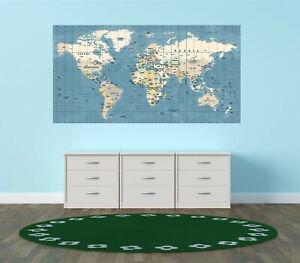 World Map Poster/Print, Laminate Option, Educational, Geography, Home Decoration
