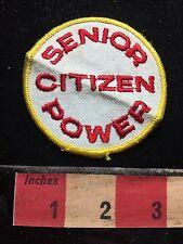 Old School SENIOR CITIZEN POWER Patch 1980s / 1990s Era 72Y7