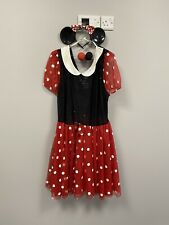 Ex Fancy Dress Hire Stock - Minnie Mouse Dress With Ears & Foam Noses - XXL
