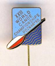 1990 ICF CANOE Sprint WORLD Championships PIN Badge Canoeing POZNAN Kayak