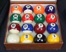 Vtg Legion Billiard Balls In Box Unused Pool Standard Size 80s 90s Complete Set
