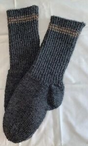 NEW Warm and Soft Hand Knit Socks (8.0 inches length)