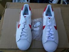 NIKE TENNIS CLASSIC SAMPLE 2002 WHITE RED SZ 9 DS UNWORN RARE CLEAN HTF VTG!