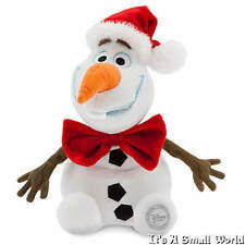"Disney Store Frozen Authentic Holiday Olaf Plush 10"" H Seated Christmas Hat NWT"
