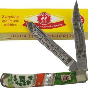 Kissing Crane Limited Edition 2020 St. Patricks Day Trapper Pocket Knife KC5707