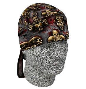 Skull Suits Bandanna Biker Doo Do Du Rag Head wrap Skull Cap Capsmith Hat
