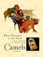 ADVERT CIGARETTE TOBACCO CAMELS FOOTBALL 30X40 CMS FINE ART PRINT POSTER BB6742