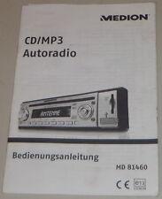 Betriebsanleitung Medion CD/MP3 Autoradio MD 81460 Stand 11/2007