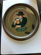 """Vintage Birra Moretti Advertising Mirrored Beer Sign Dal 1859 21 1/4"""" x 19 1/2"""""""